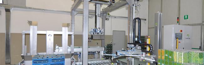 ROBOTEK -GROUP - Pallettizzazione, pallettizzatori automatici e